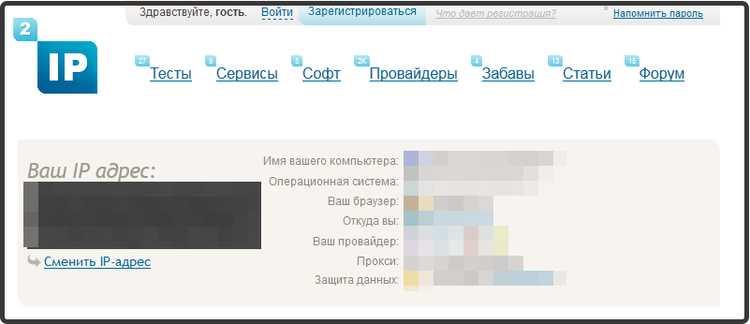 Сервис теста интернета 2ip.ru