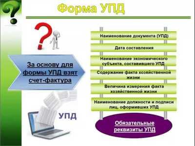 УПД: универсальный передаточный документ, правила заполнения — форма и образец