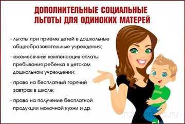 Пособие матери одиночке | на детей 8 до 17 лет | ежемесячное пособие